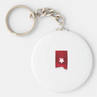Bandeira vermelha da estrela chaveiro