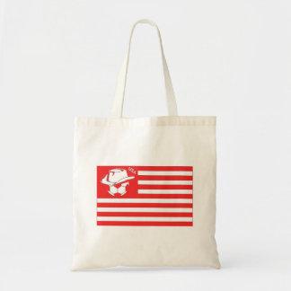 Bandeira vermelha do futebol dos EUA Bolsa