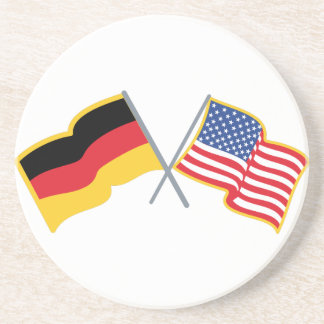 Bandeiras americanas alemãs porta copos de arenito