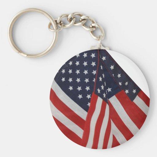 Bandeiras americanas chaveiro