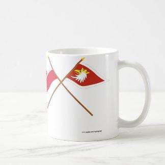 Bandeiras cruzadas do Polônia e do Caneca De Café