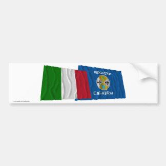 Bandeiras de ondulação de Italia e de Calabria Adesivo Para Carro