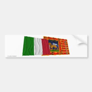 Bandeiras de ondulação de Italia e de Vêneto Adesivo Para Carro