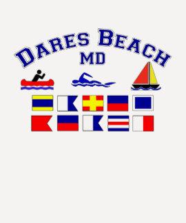 Bandeiras de sinal da DM da praia dos desafios Camisetas