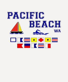 Bandeiras de sinal pacíficas da praia WA Tshirts