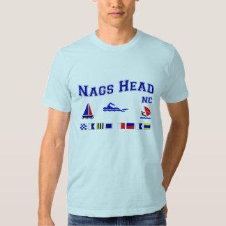 Bandeiras de sinal principais do NC dos Nags Tshirt