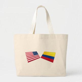 Bandeiras dos E.U. & da Colômbia Bolsa Para Compra