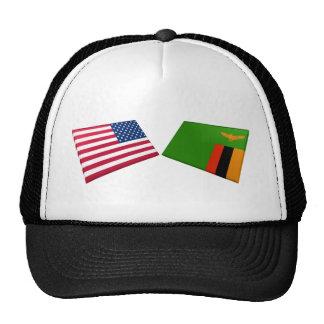 Bandeiras dos E.U. & da Zâmbia Bones