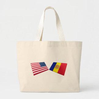 Bandeiras dos E.U. & do Andorra Bolsa Para Compras