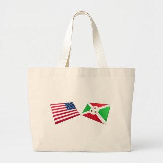 Bandeiras dos E.U. & do Burundi Bolsas Para Compras