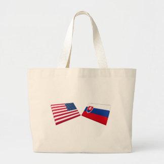 Bandeiras dos E.U. & do Slovakia Bolsa Para Compra