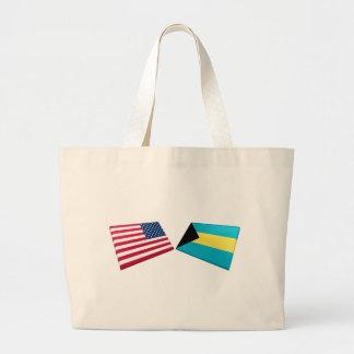 Bandeiras dos E.U. & dos Bahamas Bolsa