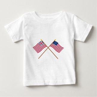 Bandeiras grandes cruzadas de Alliance da união e T-shirt