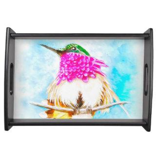 Bandeja Aguarela do colibri da costela