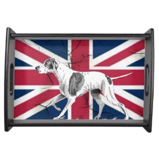 Bandeja Bandeira britânica do jaque de união do cão inglês