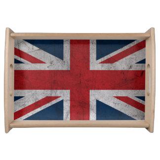Bandeja Bandeira de Reino Unido do Grunge