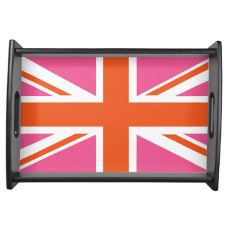 Bandeja Bandeira de união cor-de-rosa e alaranjada