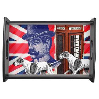 Bandeja Bandeira inglesa do jaque de união da cabine de