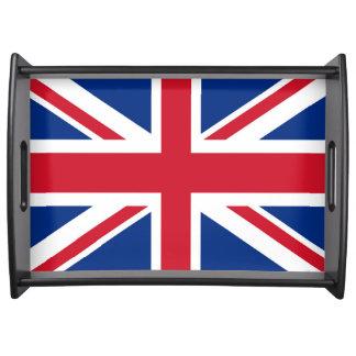 Bandeja Bandeira real BRITÂNICA de Grâ Bretanha Union Jack