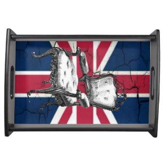 Bandeja Bandeira Rococo do jaque de união de Reino Unido