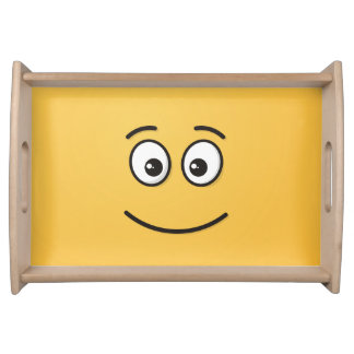 Bandeja Cara de sorriso com olhos abertos