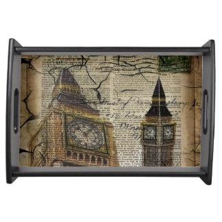 Bandeja Clocktower ben grande de Grâ Bretanha Inglaterra