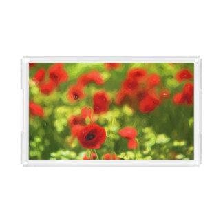 Bandeja De Acrílico A papoila maravilhosa floresce VI - Wundervolle