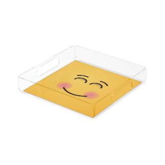 Bandeja De Acrílico Cara de sorriso com olhos de sorriso