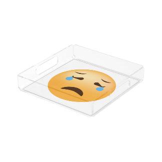 Bandeja De Acrílico Emoji triste