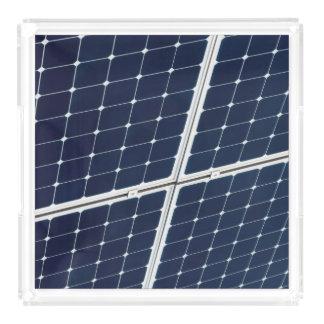 Bandeja De Acrílico Imagem de um painel de energias solares engraçado