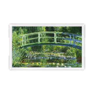 Bandeja De Acrílico Lagoa do Monet-Água-Lírio de Claude
