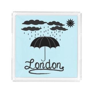 Bandeja De Acrílico Londres | sob um guarda-chuva