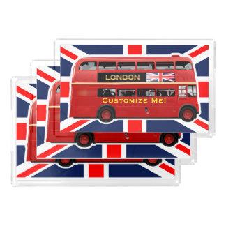 Bandeja De Acrílico Ônibus do autocarro de dois andares de Londres do