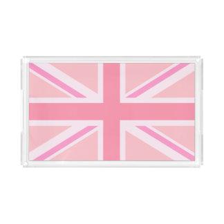 Bandeja De Acrílico Rosa Union Jack/bandeira