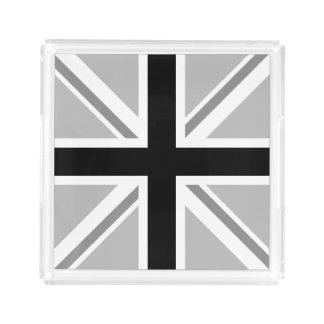 Bandeja De Acrílico Union Jack monocromático/quadrado da bandeira