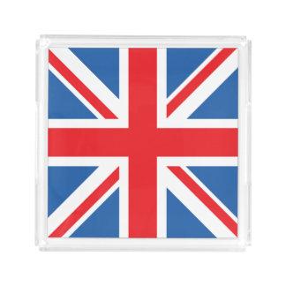 Bandeja De Acrílico Union Jack/quadrado da bandeira