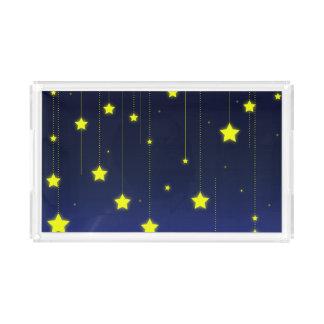 Bandeja do serviço da noite estrelado