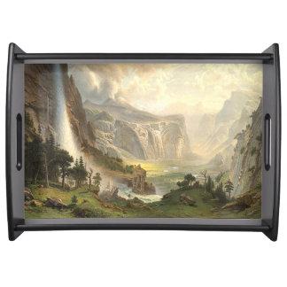 Bandeja do serviço de Bierstadt do vale da