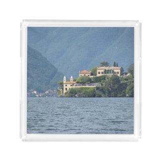 Bandeja do serviço de Como de Italia, lago