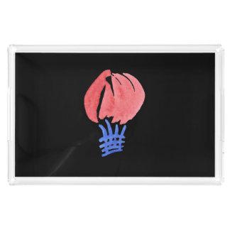 Bandeja do serviço do retângulo do balão de ar