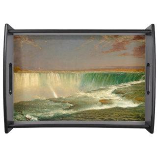 Bandeja do serviço do rio da cachoeira de Niagara