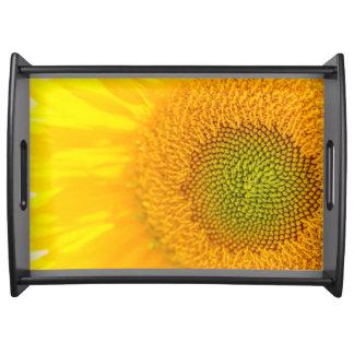Bandeja Girassol floral amarelo