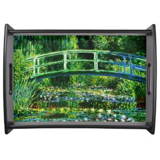 Bandeja Lagoa do Monet-Água-Lírio de Claude