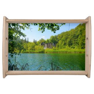 Bandeja Parque nacional dos lagos Plitvice em Croatia