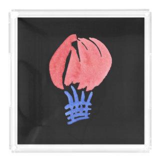 Bandeja quadrada do serviço do balão de ar grande