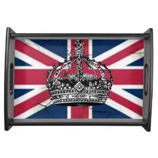 Bandeja Rainha da bandeira de Union Jack do jubileu de