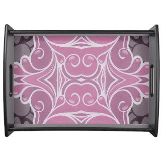 Bandeja Teste padrão moderno cor-de-rosa e cor-de-rosa