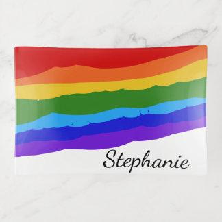 Bandejas Cursos da pintura do arco-íris personalizados