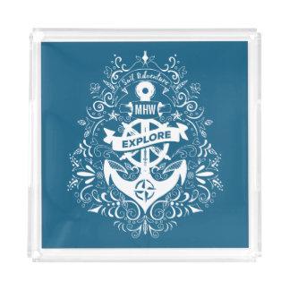 Bandejas feitas sob encomenda do monograma da