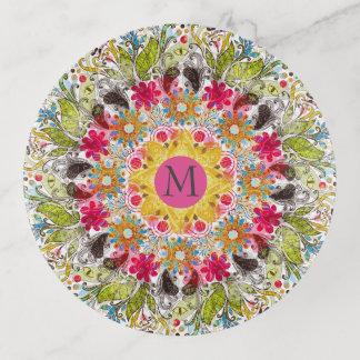 Bandejas Mandala abstrata colorida